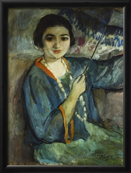 Nono with Umbrella by Henri Lebasque
