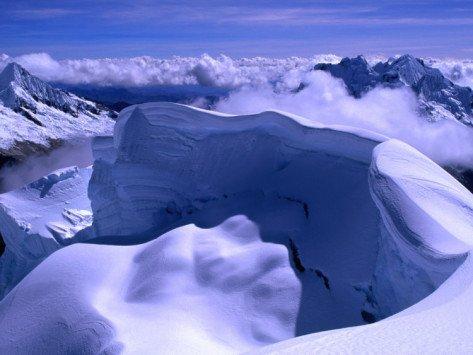 North from Nevado Artesonraju, Cordillera Blanca, Ancash, Peru