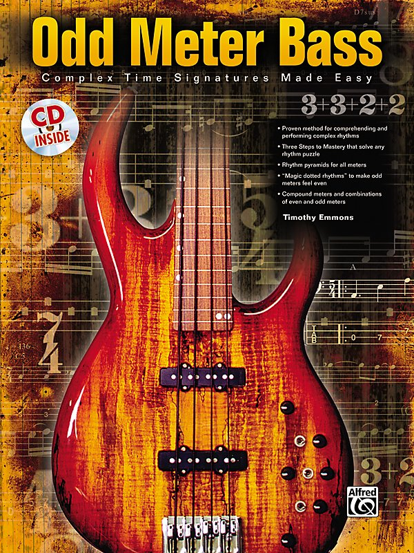 Alfred - Odd Meter Bass: Complex Time Signatures Made Easy - By Tim Emmons (Book/CD)