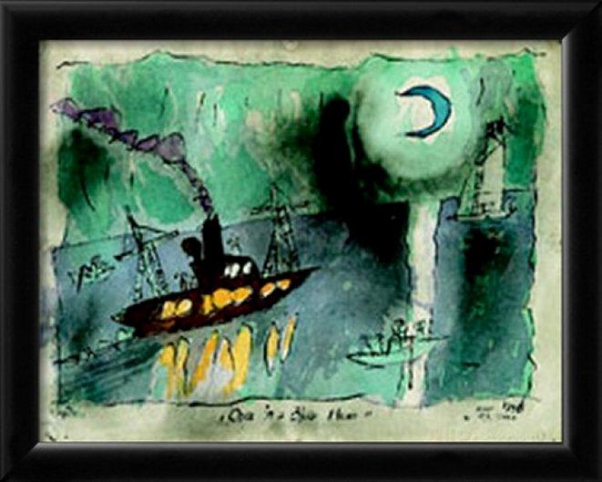 Once in a Blue Moon by Lyonel Feininger