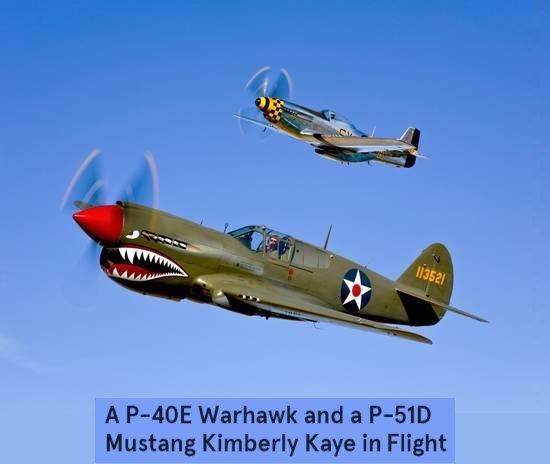 P-40 E Warhawk poster