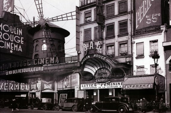 Paris Nightclub 1930 - Moulin Rouge - Archival Photo Poster Print