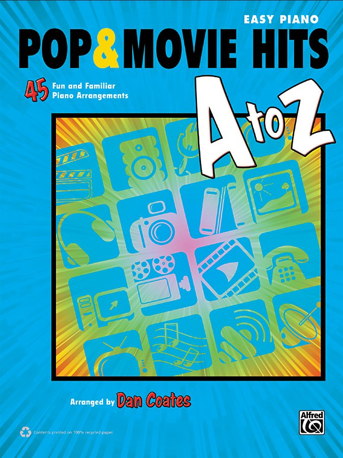 Alfred - Pop & Movie Hits A to Z Easy Piano Book
