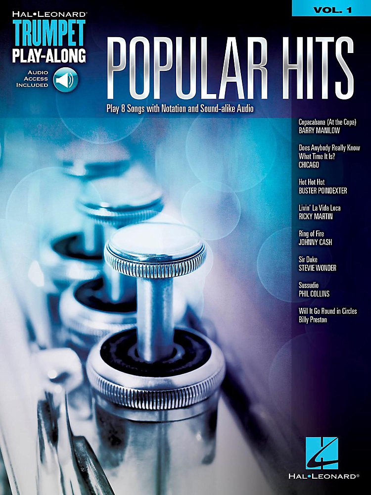 Hal Leonard - Popular Hits - Trumpet Play-Along Vol. 1 (Book/Audio Online)