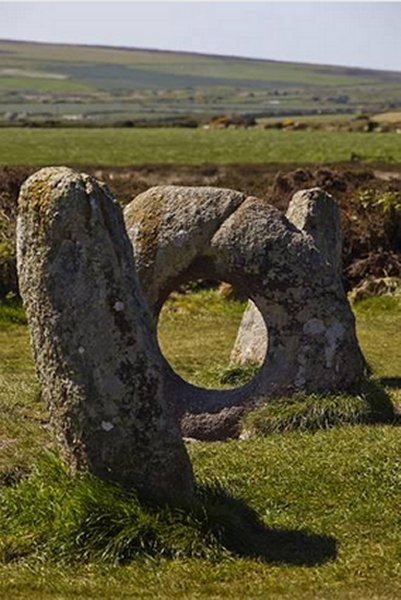 The Prehistoric Men-An-Tol, Near Penzance, Cornwall, Great Britain<
