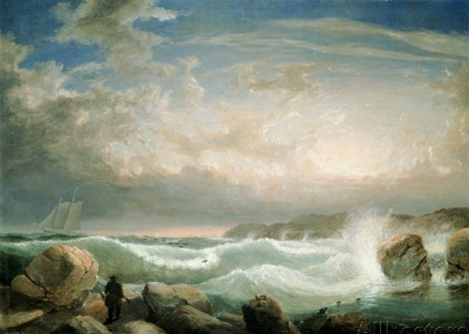 Rafe's Chasm, Gloucester, Massachusetts by Fitz Hugh Lane