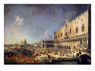 The Reception of the French Ambassador in Venice, circa 1740s - by Canaletto
