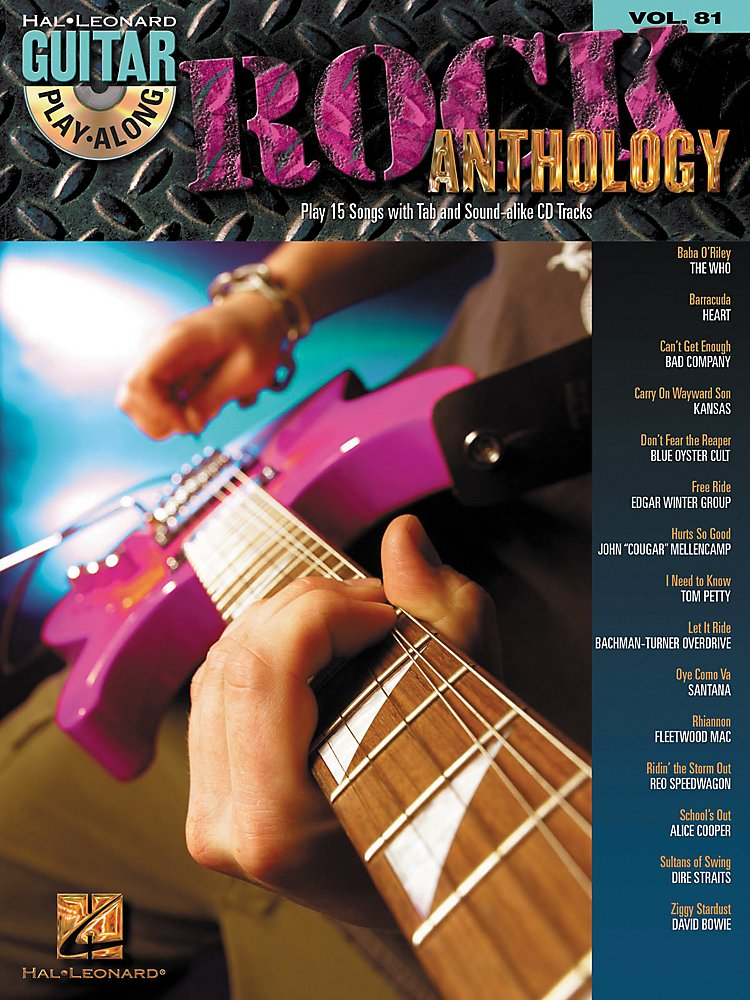 Hal Leonard - Rock Anthology - Guitar Play-Along Series, Volume 81 (Book/Cd)