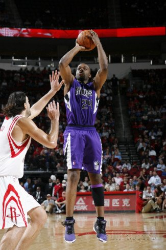 Sacramento Kings v Houston Rockets: Carl Landry and Luis Scola