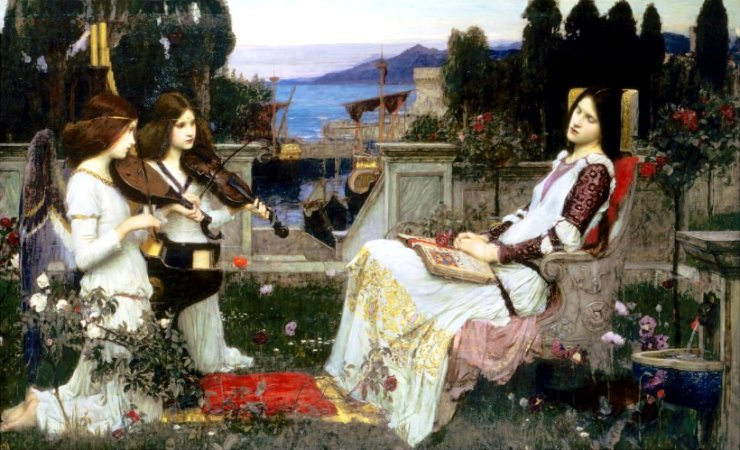 Saint Cecilia by John William Waterhouse, Art Print