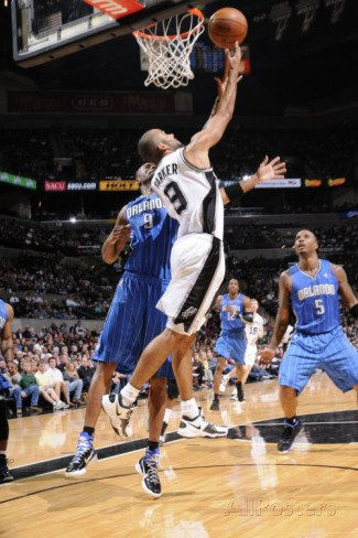 Orlando Magic v San Antonio Spurs: Tony Parker and Rashard Lewis