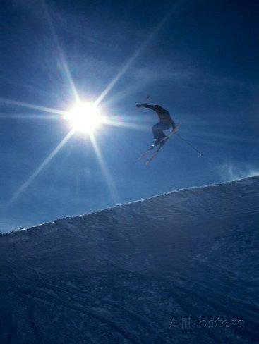 Ski Jumper and Sunburst, Chile