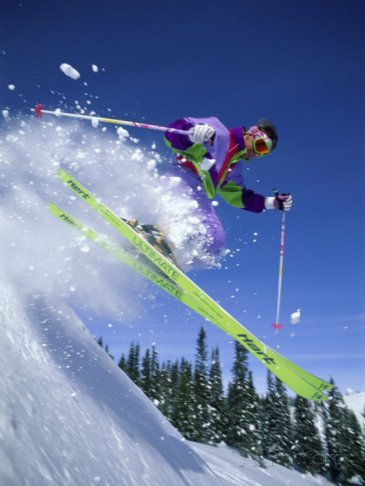 Skier with Yellow Skis
