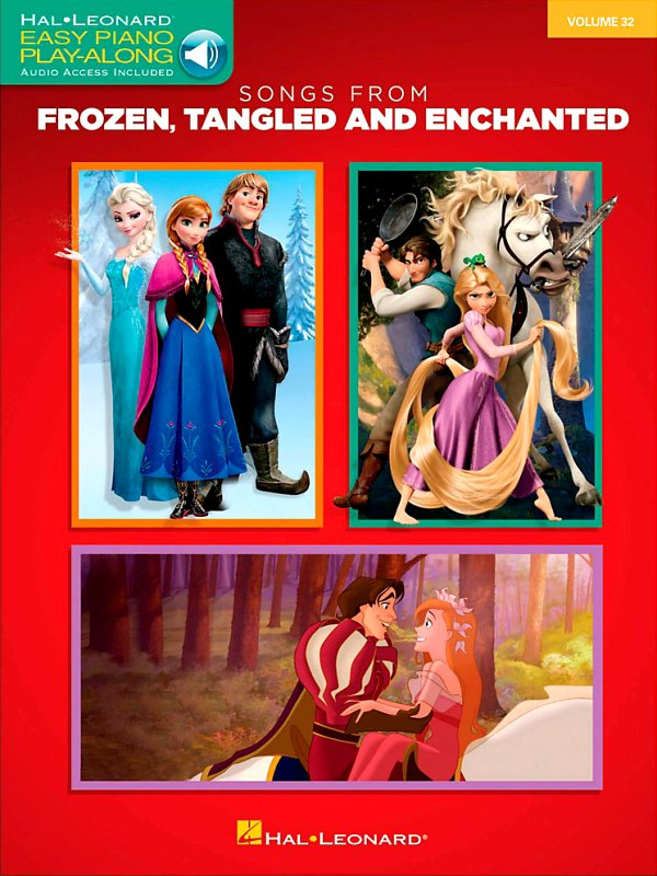 Hal Leonard - Songs From Frozen, Tangled and Enchanted - Easy Piano CD Play-Along Volume 32 Book/Online Audio