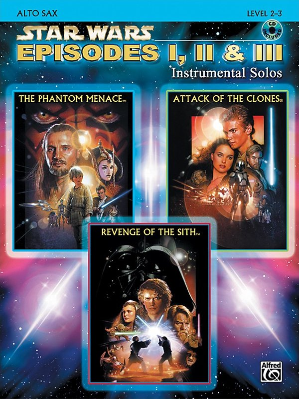 Alfred - Star Wars Episodes I, Ii & Iii Instrumental Solos - Alto Sax (Book/Cd)