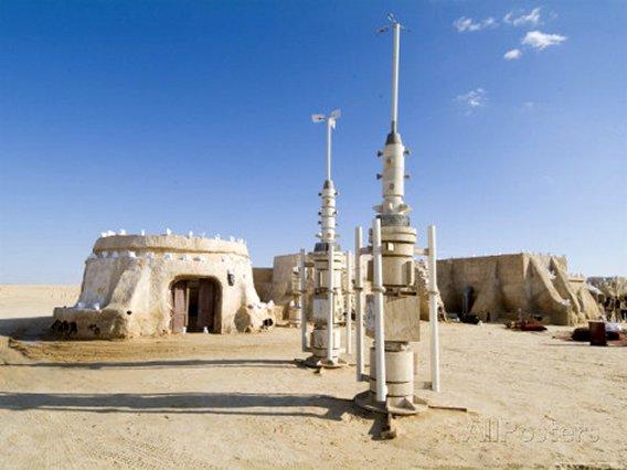 Star Wars Set, Chott El Gharsa, Tunisia, North Africa, Africa