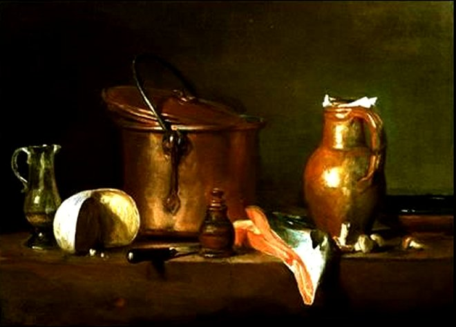 Still Life With Copper Pot by Jean Baptiste Chardin