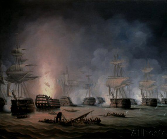 The Battle of the Nile, August 1st 1798, by Thomas Buttersworth