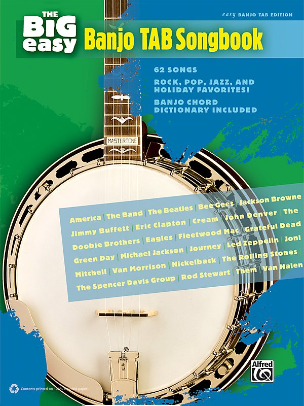 Alfred - The Big Easy Banjo TAB Songbook