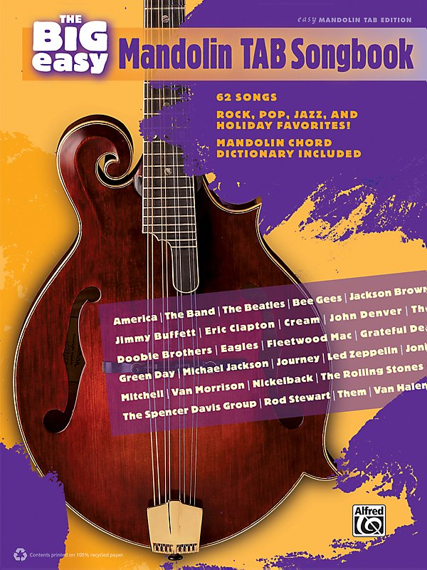 Alfred - The Big Easy Mandolin TAB Songbook