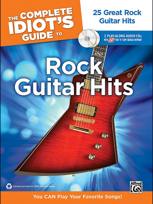 Alfred - The Complete Idiot's Guide to Rock Guitar Hits Tab Book/ 2 CDs