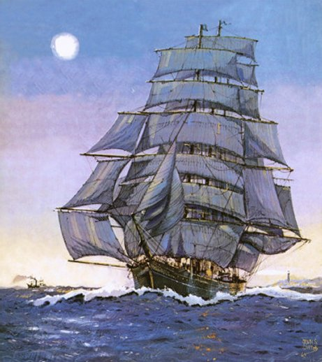 The Cutty Sark by John S. Smith, Art Print of Vintage Sailing Ships