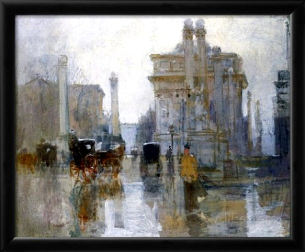 The Dewey Arch, c.1900 by Paul Cornoyer