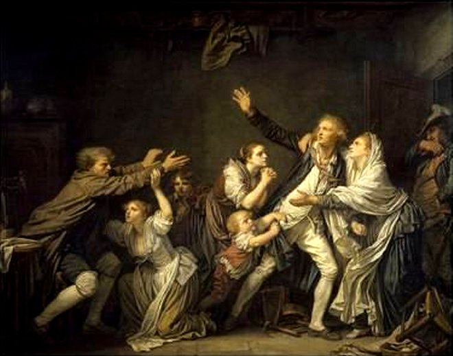 The Father's Curse or the Ungrateful Son 1777 by Jean Baptiste Greuze