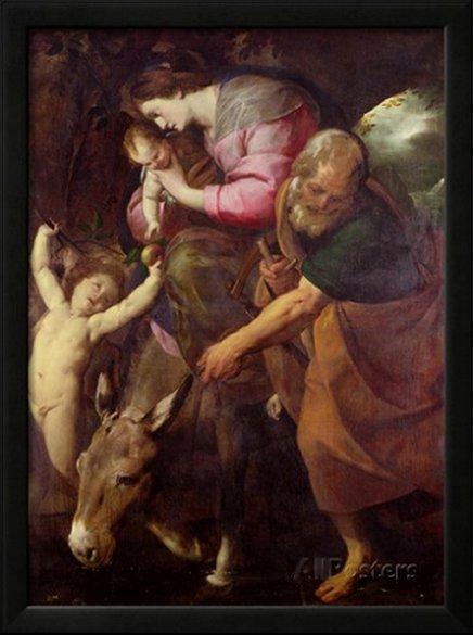 The Flight into Egypt, C.1600-10 by Giovanni Battista Crespi