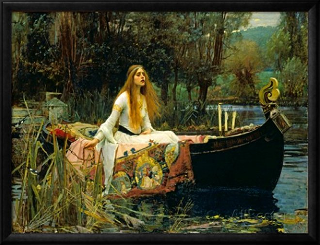 The Lady of Shalott, 1888 by John William Waterhouse, Art Print