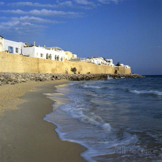 The Medina Walls, Hammamet, Cap Bon, Tunisia, North Africa, Africa