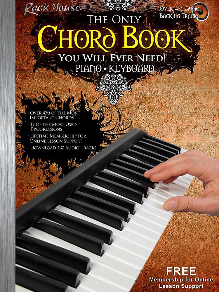 Rock House - The Only Chord Book You Will Ever Need For Keyboard/Piano - Book/Audio Online