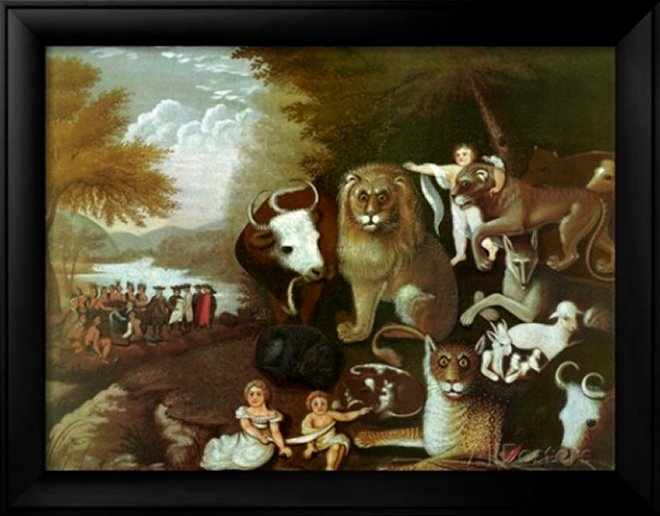 The Peaceable Kingdom, 1834 by Edward Hicks