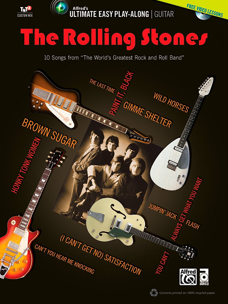 Alfred - The Rolling Stones - Ultimate Easy Guitar Play-Along (Book & Dvd)