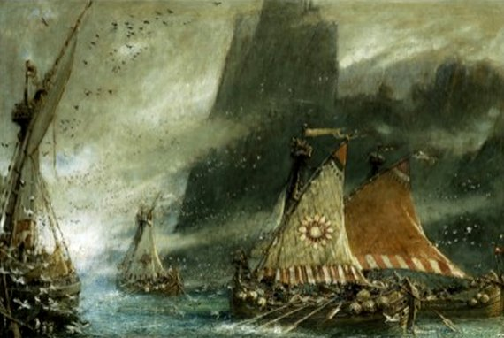 The Sea Raiders by Albert Goodwin