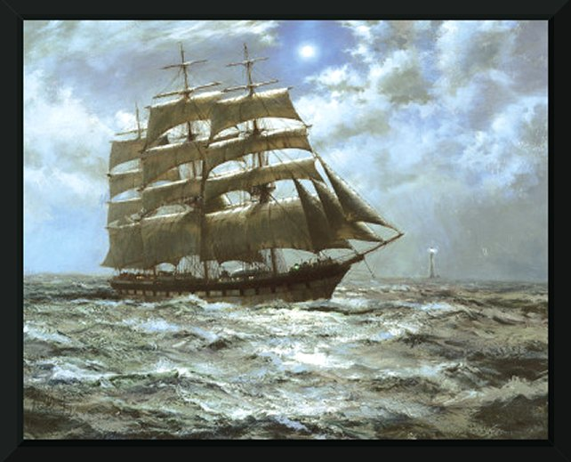 The Silver Moon by Montague Dawson - Art Print