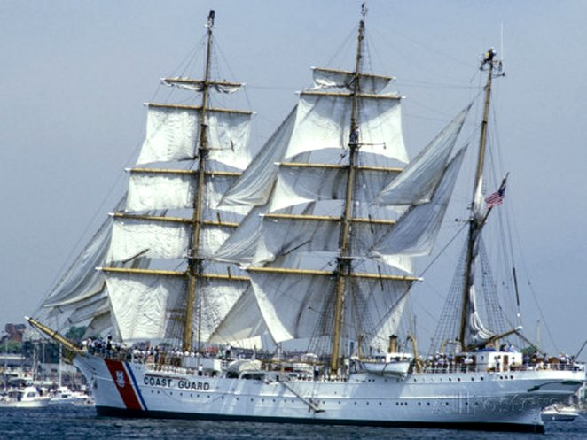 The USCGC Eagle, a 295-foot Barque Used As a Training Cutter