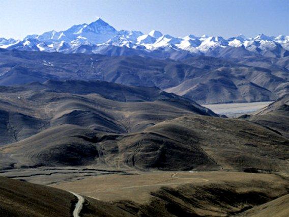 Tibet Landscape Looking Towards Nepal