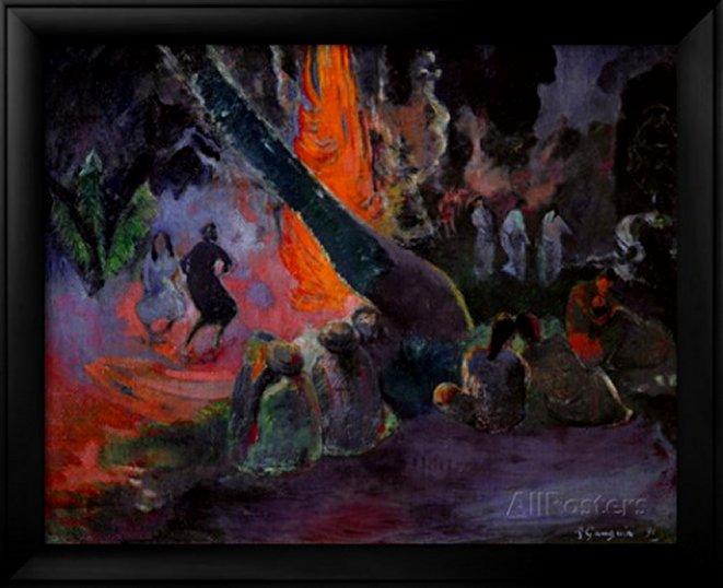 Upa Upa (The Fire Dance) 1891 by Paul Gauguin