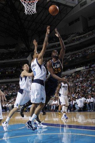 Utah Jazz v Dallas Mavericks: Al Jefferson and Tyson Chandler