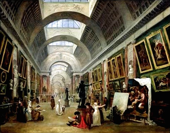 View of the Grand Gallery of the Louvre 1796 by Hubert Robert