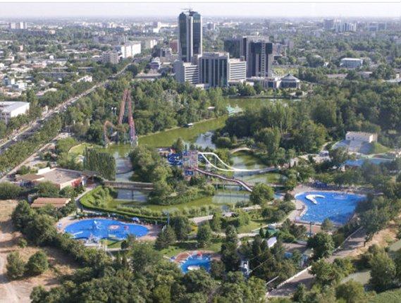 View over Tashkent from the TV Tower, Tashkent, Uzbekistan