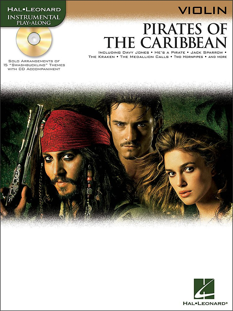 Pirates Of The Caribbean For Violin Instrumental Book/Cd