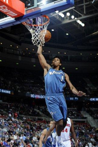 Washington Wizards v Detroit Pistons: Nick Young and Jason Maxiell