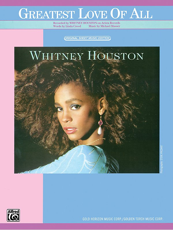 Whitney Houston The Greatest Love Of All Piano/Vocal/Chords