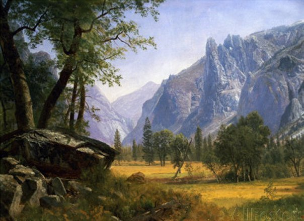 Yosemite Valley by Albert Bierstadt, art print
