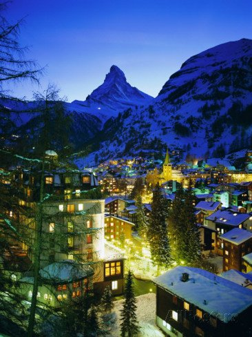 Zermatt and the Matterhorn Mountain in Winter, Zermatt, Swiss Alps, Switzerland, Europe