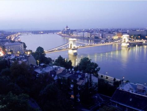 Chainbridge, Budapest, Art Print