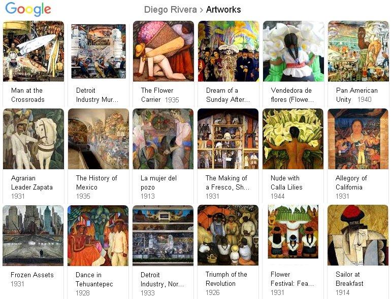 Diego Rivera Google results