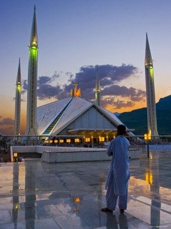 Faisal Mosque, Islamabad, Pakistan, Art Print